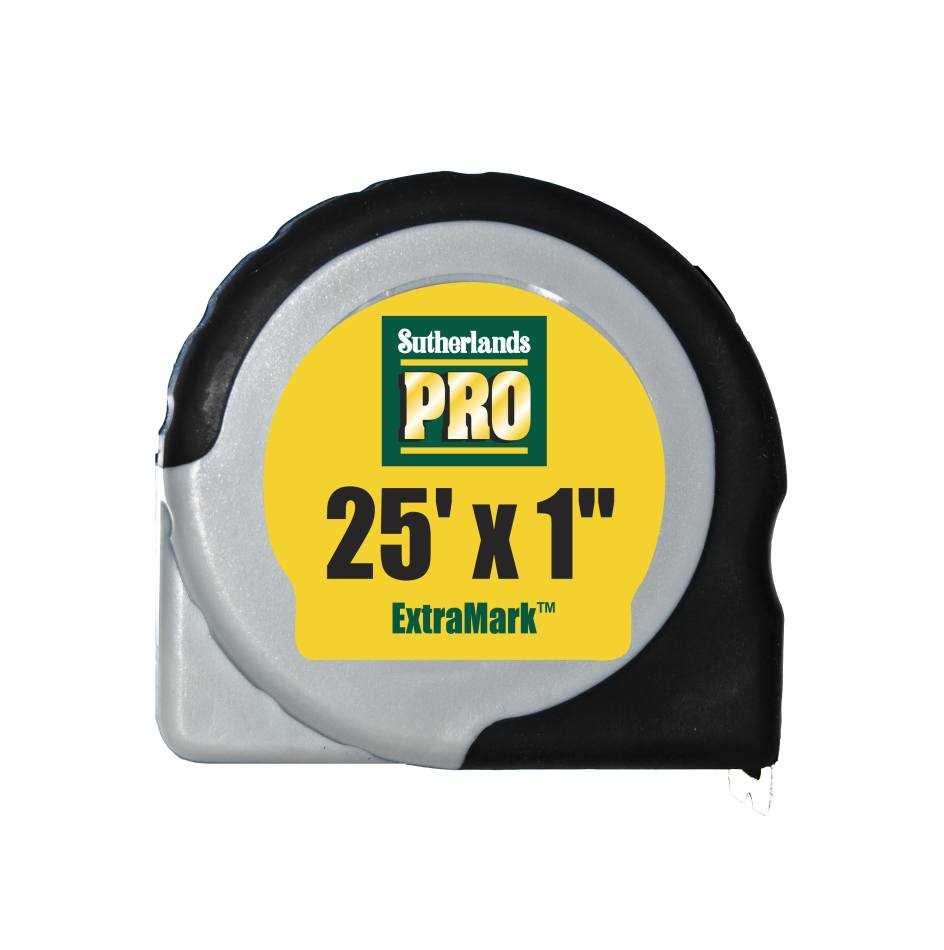Sutherlands pro 53944 25 ft extramark tape measure at for Sutherlands building packages