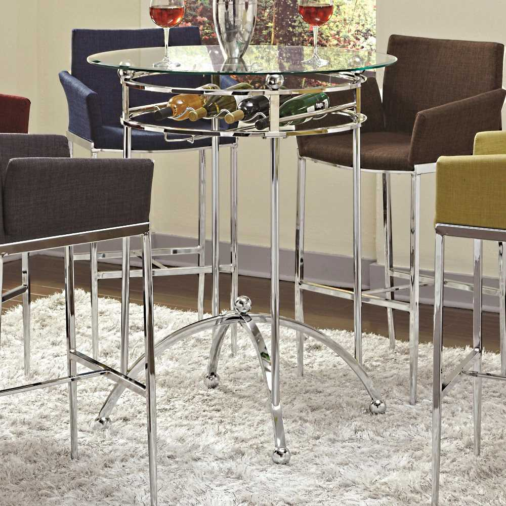coaster modern dining white table with chrome metal base fin