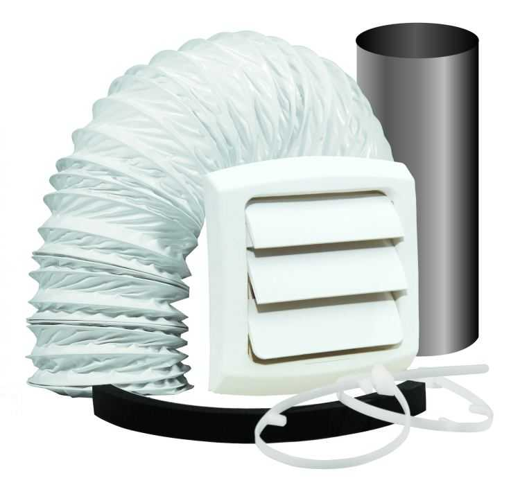 Dundas jafine exwtzw 4 inch bathroom fan vent kit at for Sutherlands home kits
