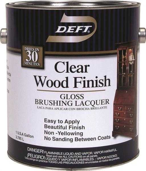 Deft 010 01 Interior Wood Finish Brushing Lacquer Amber