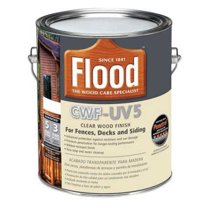Flood fld465 cwf uv5 exterior wood finish natural gal at for Exterior wood stain flood