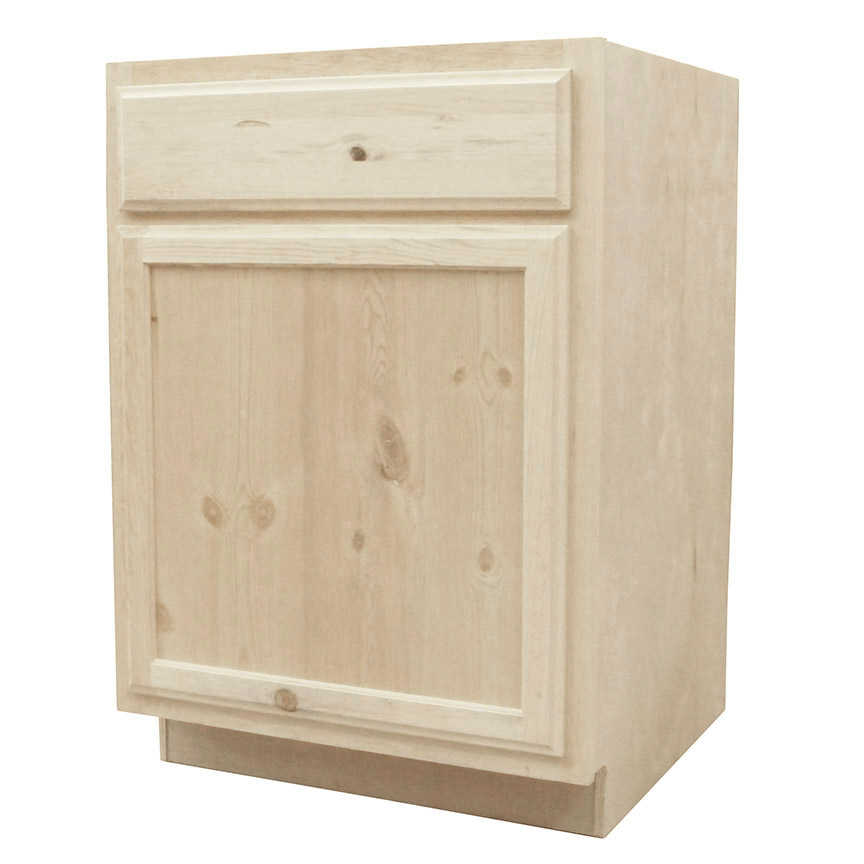 Vintage Knotty Pine Kitchen Cabinets: KAPAL WOOD PRODUCTS B24-PFP 24 In Unfinished Knotty Pine