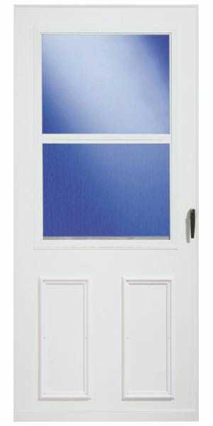 Larson doors 029332u st 36 inch white vinyl clad storm for Vinyl storm doors