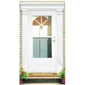 Larson doors 99057032 36 inch white vinyl clad mid view for Vinyl storm doors