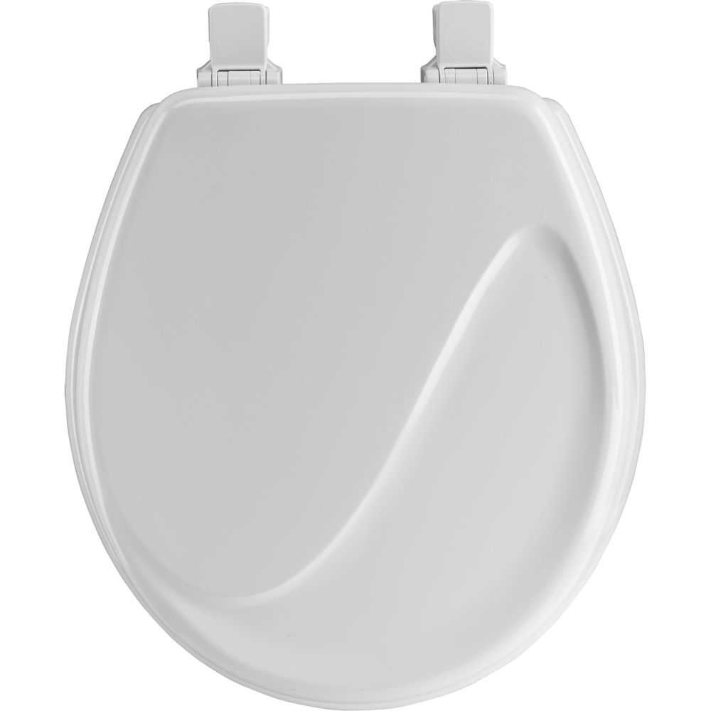 Mayfair bemis 24ec 000 round molded wood wave design toilet seat white at sutherlands - Toilet seats design ...