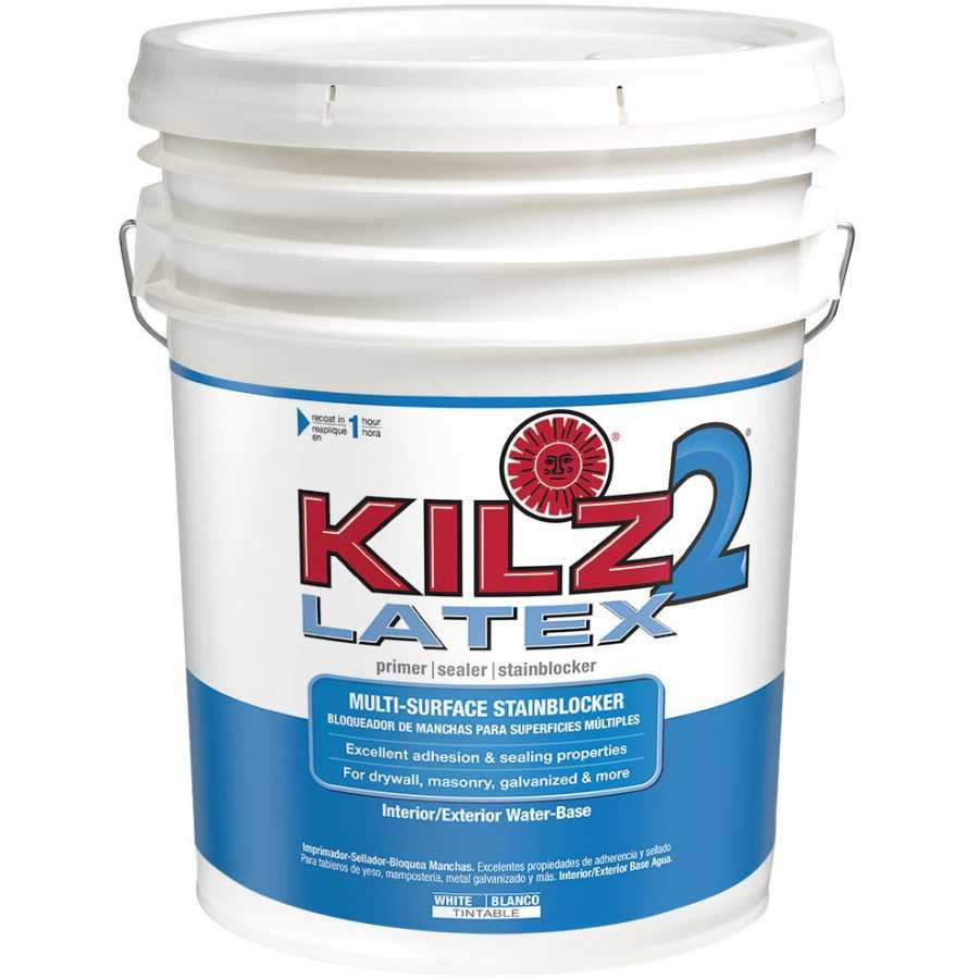 kilz 20000 kilz 2 5 gal latex interior exterior primer low voc at sutherlands