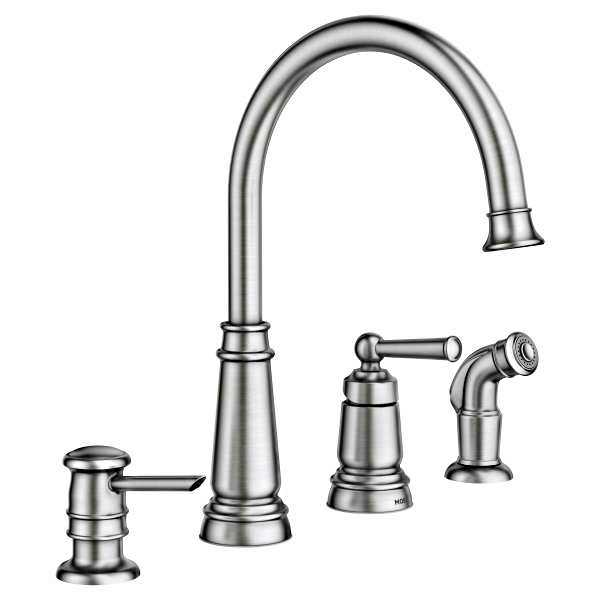 Moen 87042SRS Edison Spot Resist Stainless One-Handle High Arc ...