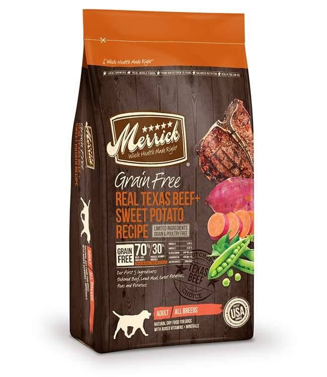 merrick pet care mbg38342 grain free real texas beef and