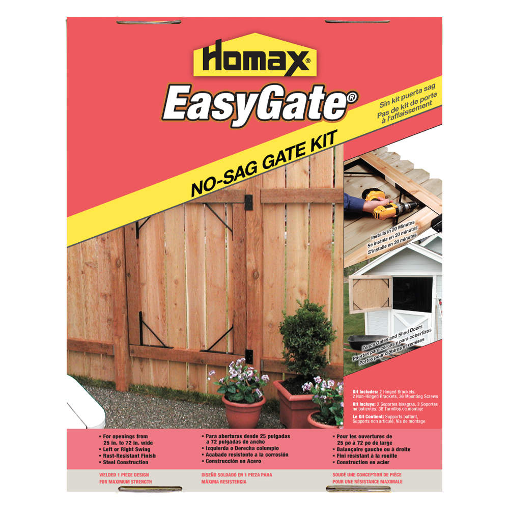 Homax group 80099 easygate no sag gate kit at sutherlands for Sutherlands deck kits
