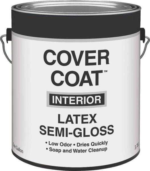 Interior Paint Coverage Per Gallon: Valspar 455 Cover Coat Interior Latex Paint Semi-Gloss