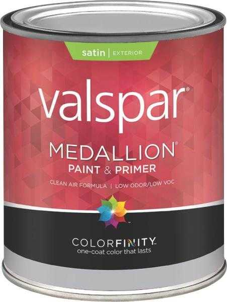 Valspar 4100 Medallion Exterior Latex Paint Satin White 1 Qt At Sutherlands