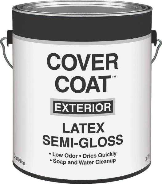 Valspar 755 1 gallon white semi gloss cover coat exterior - Paint coverage per gallon exterior ...