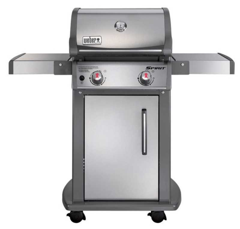 weber grill 46100001 spirit s 210 2 burner gas grill lp stainless steel at sutherlands. Black Bedroom Furniture Sets. Home Design Ideas