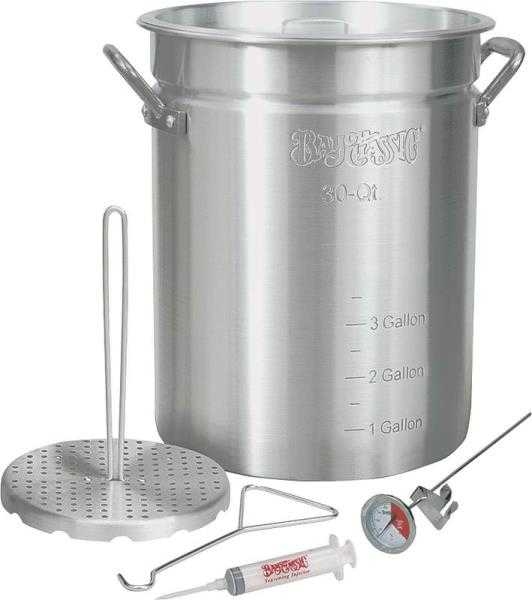 Bayou classic 3025 turkey fryer with rack 30 quart at for Bayou classic fish fryer