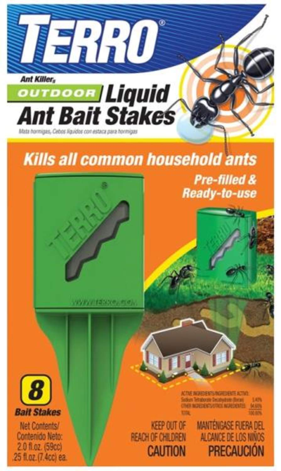 Terro T1812 Outdoor Liquid Ant Bait Stakes 8-Pack At