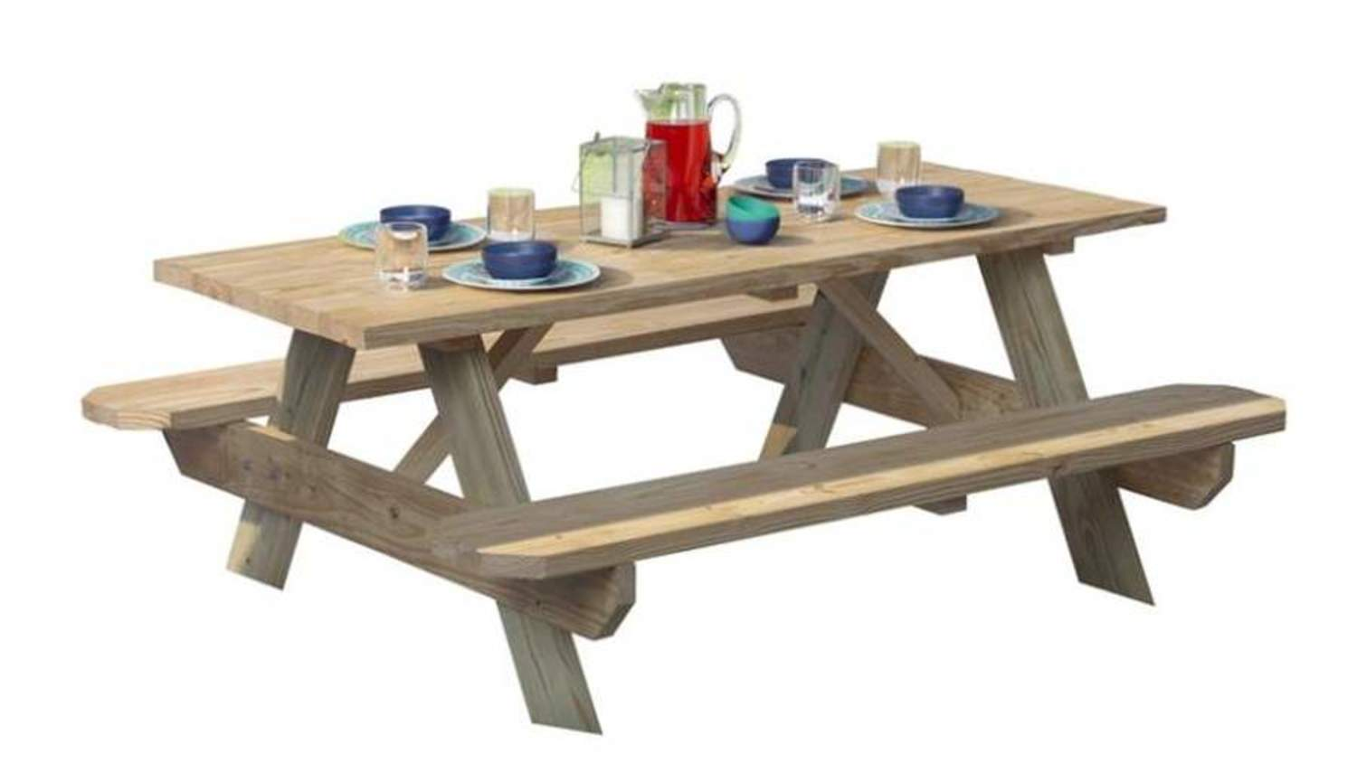Universal Forest 106116 6-Foot Wooden Picnic Table Kit at ...