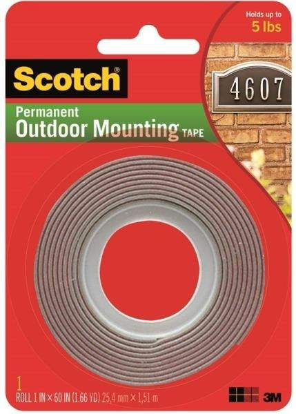 scotch 4011 1 inch x 1 66 yard permanent outdoor mounting