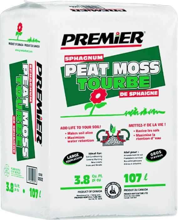 Premier Horticulture 0082p 3 8 Cuft Sphagnum Peat Moss