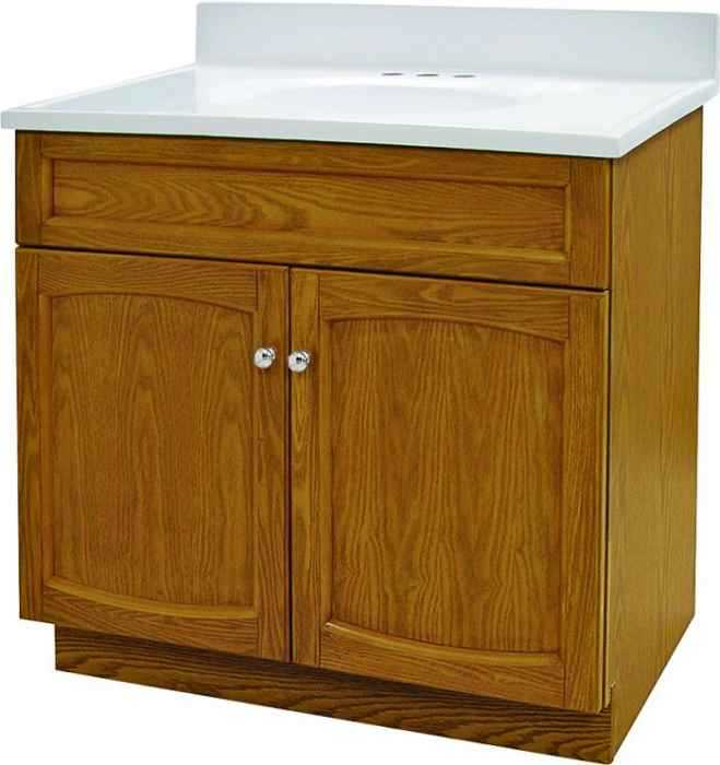 Foremost Groups Heo3018 30x18 Oak Heartland Vanity Combo At Sutherlands