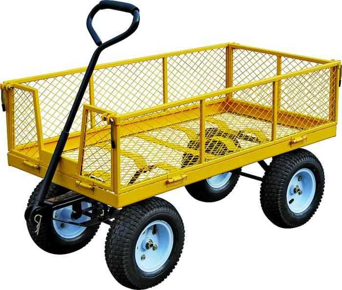 Landscapers Select TC4205EG 1200 Lb Load Capacity Steel Garden Cart With  Pull Handle