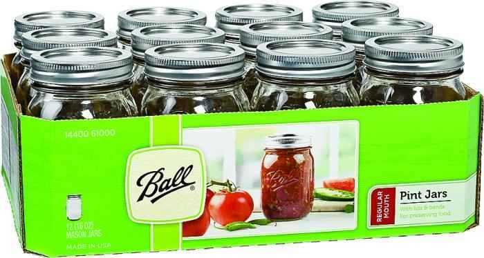Jarden home brands 61000 pint regular mason canning jar at for Jarden stock