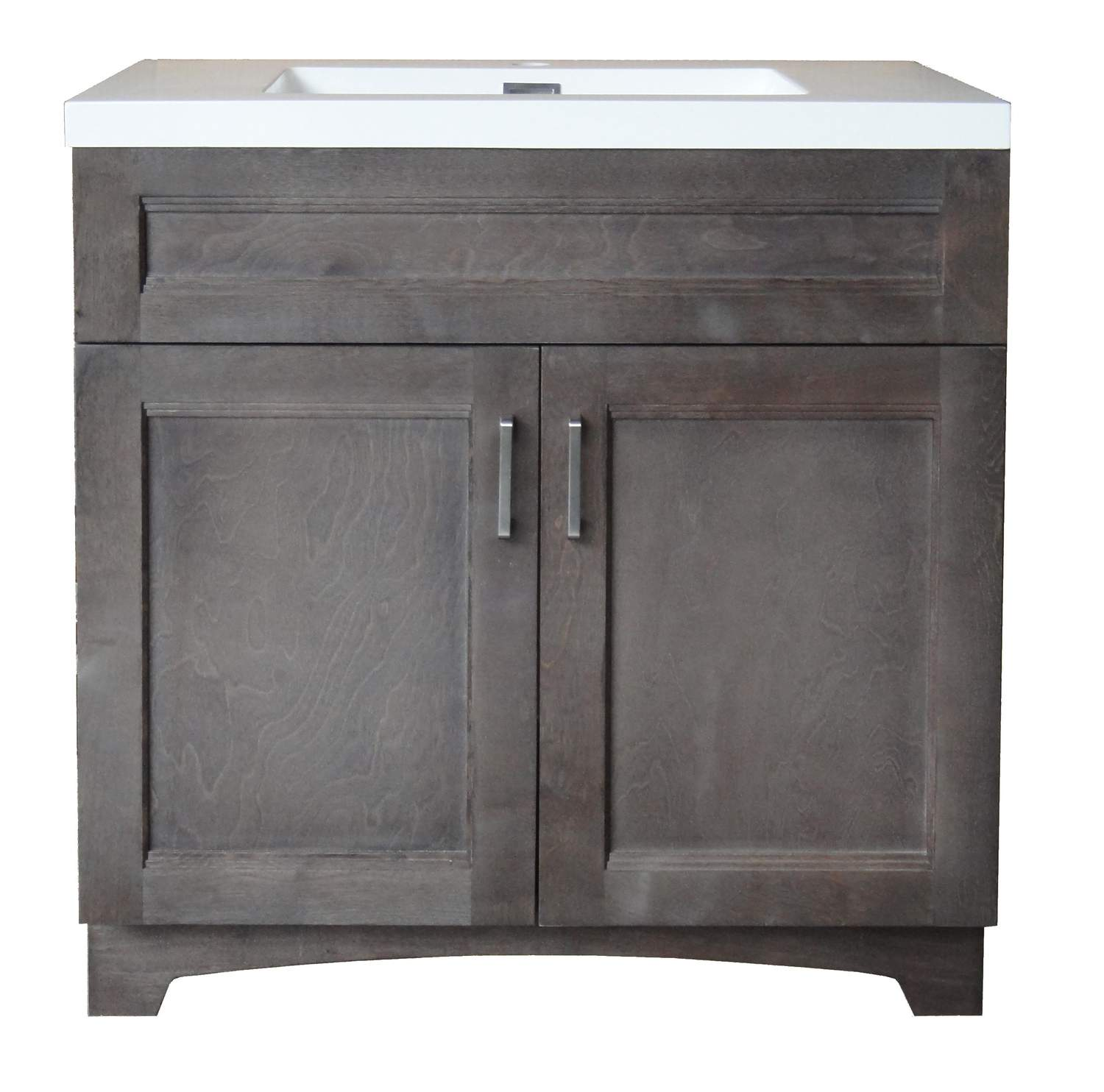 Osage Cabinet Hv3018 2c M8 30 Inch Gray Hartford Vanity And Top Combo At Sutherlands