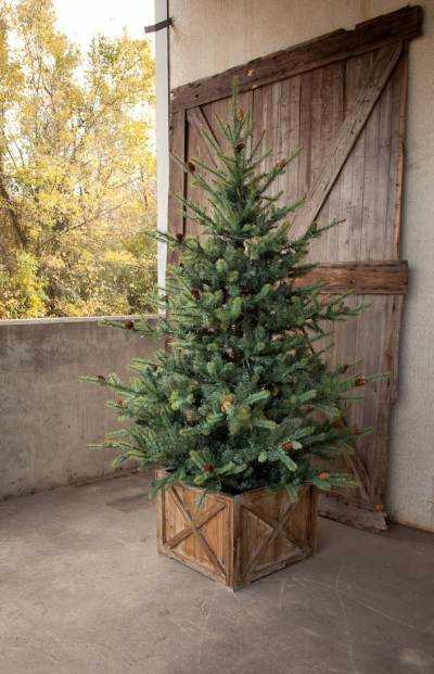 Park Hill Collections WT75 7-1/2-Foot Lighted Blue Spruce Christmas Tree at Sutherlands