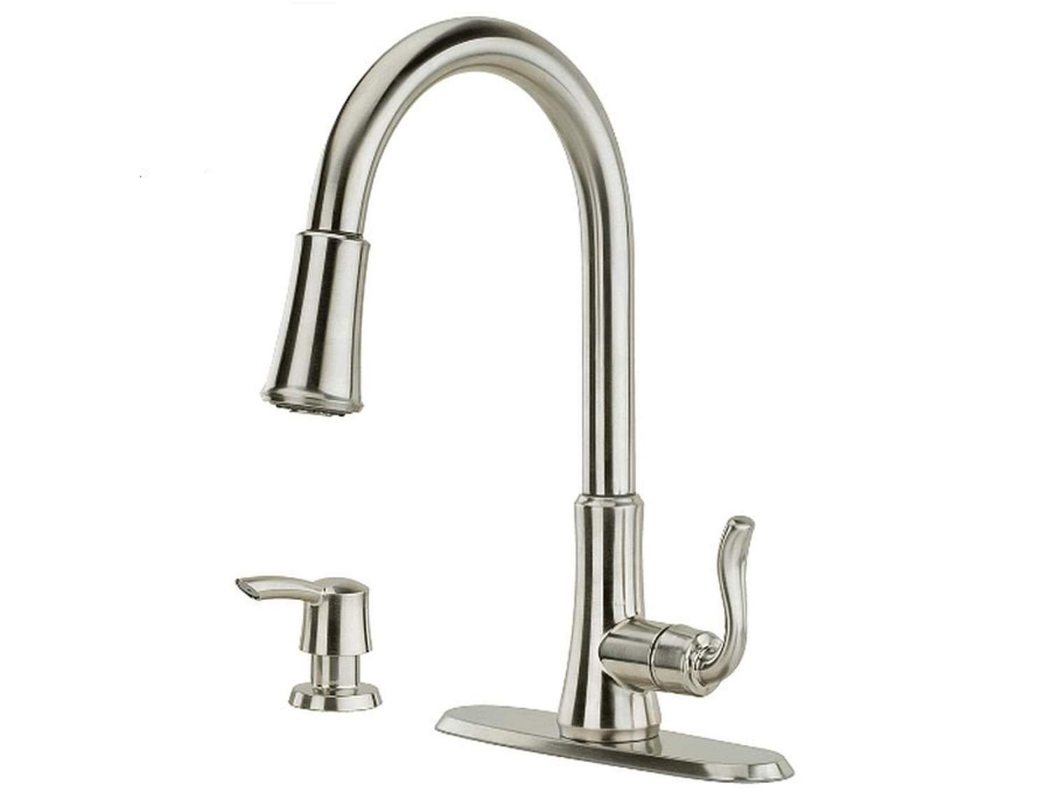Pfister F5297cgs Cagney 1 Handle Pull Down Kitchen Faucet