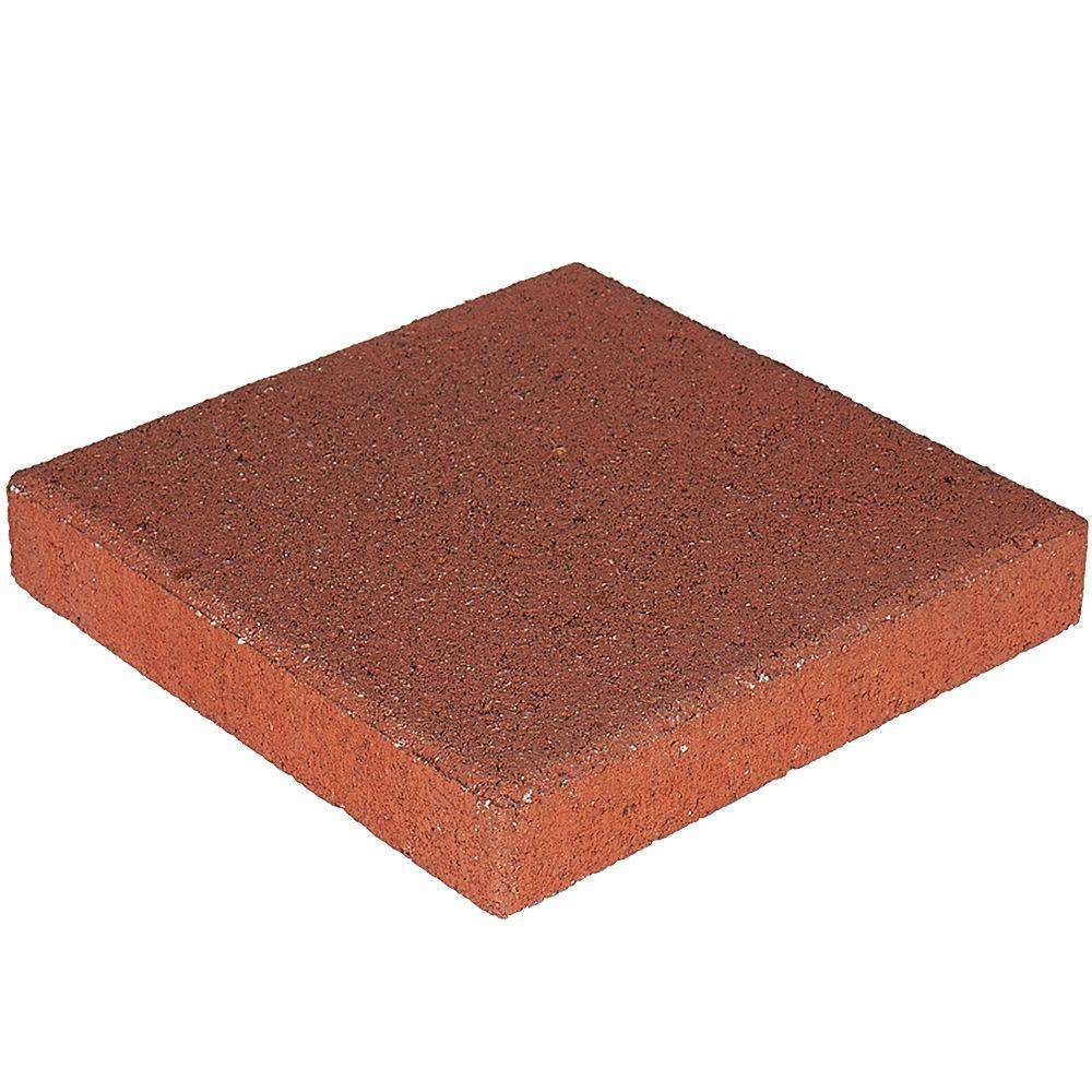 Pavestone 71251 River Red 12 Inch Square Patio Stone