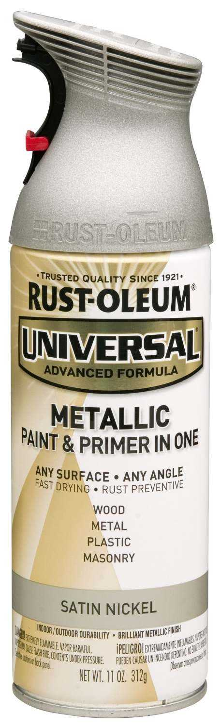 Rust Oleum 249130 Universal Interior Exterior Metallic Spray Paint Nickel At Sutherlands