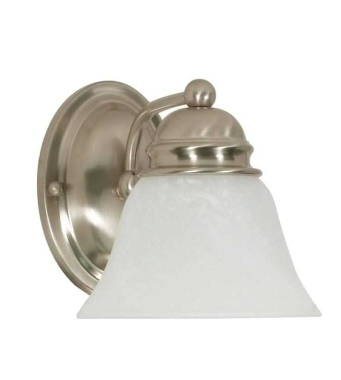 Satco Nuvo Lighting 60 340 Vanity Fixture 1 Lt 7 In Empire Brushed Nickel At Sutherlands