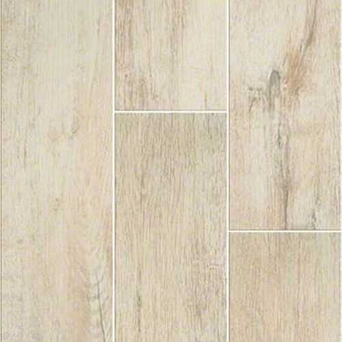 Shaw CS30M-00100 7-Inch X 22-Inch Flax Channel Plank Ceramic Floor ...