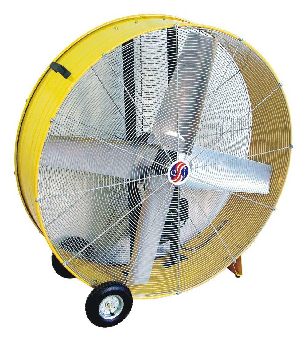 42 Inch Portable Fan : Selecture inch yellow belt driven drum fan