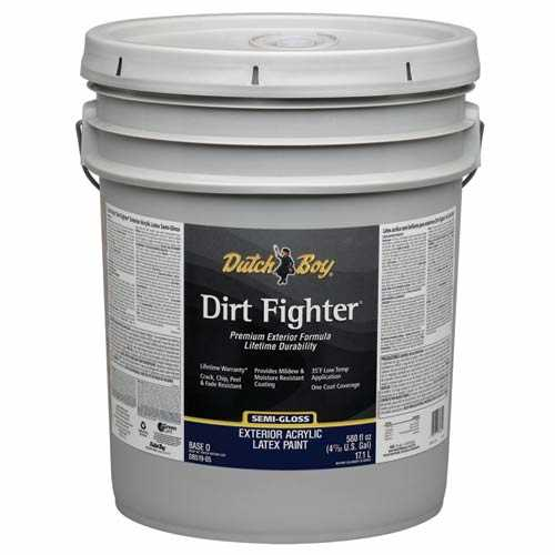 Dutch boy 1 db51807 20 dirt fighter exterior latex paint for Exterior paint satin 5 gal