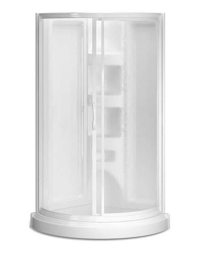 ASB Corp 450084 38 in Round Corner Shower Kit White at Sutherlands