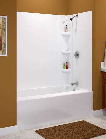 ASB Corp 39564 Avondale White Tub Wall Kit at Sutherlands