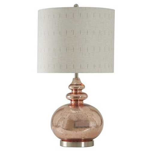 Style Craft Home Collection L311683 Rose Mercury Glass Transitional Table  Lamp