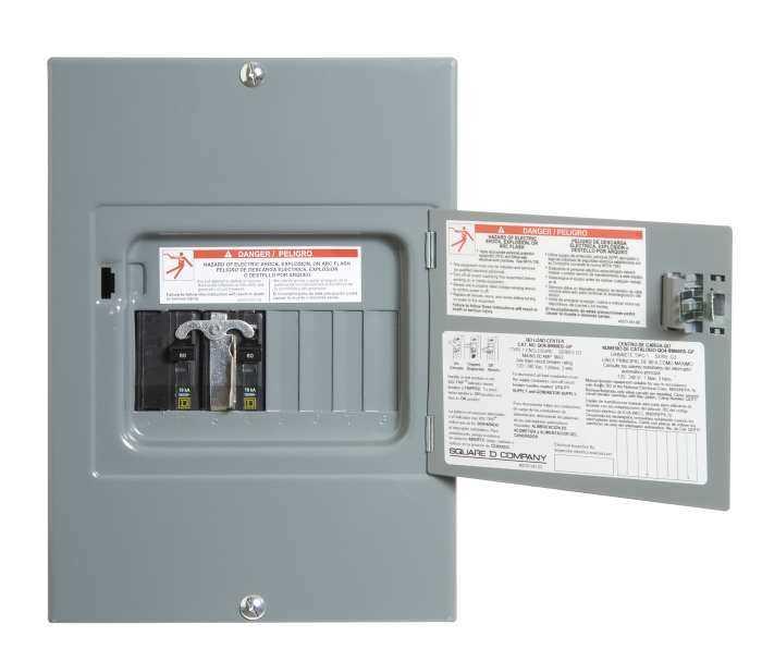 Square D Qo48m60dsgp Gp Generator Panel 8cir 60amp