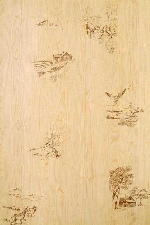 American Pacific, Inc. 4X8 1/8 Hunters Wood Decorative Wall Paneling ...