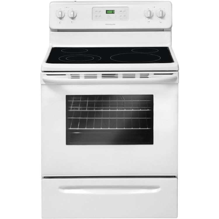Electric Range Smooth Top Cooking Surface Summit On In: Frigidaire FFEF3018LW Smooth Top Electric Range White At