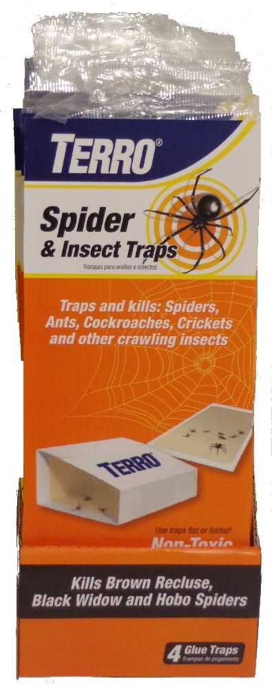 Terro T3206 Spider And Insect Trap 4 Pack At Sutherlands