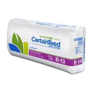 Certainteed 990355 kraft faced batts r13 3 1 2x23 at for R30 insulation dimensions