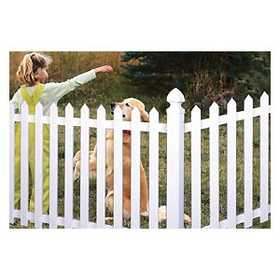 Universal Forest 53186 2x2 Pointed Top Picket Vinyl Fence Section
