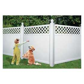 Universal Forest 53180 1x6 Lattice Top Vinyl Fence Section