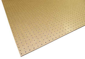 Sutherland Lumber 4X8 4x8 1/4 Tempered Peg Board