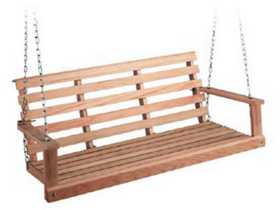 Beecham 44444 Flatbottom Oak Porch Swing 4 ft