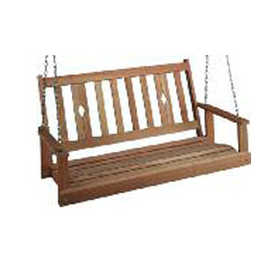 Beecham 55554 5 ft Oak Diamond Back Porch Swing