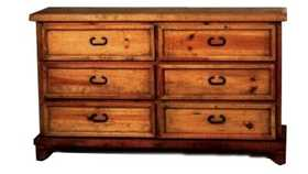 Rustic Pine Furniture 414 6 Drawer Dresser