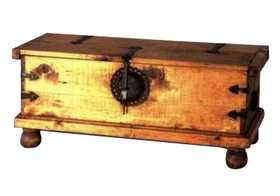 Rustic Pine Furniture 357 Small Trunk With Iron Fitting
