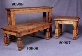 Rustic Pine Furniture 906 Square Coffee Table